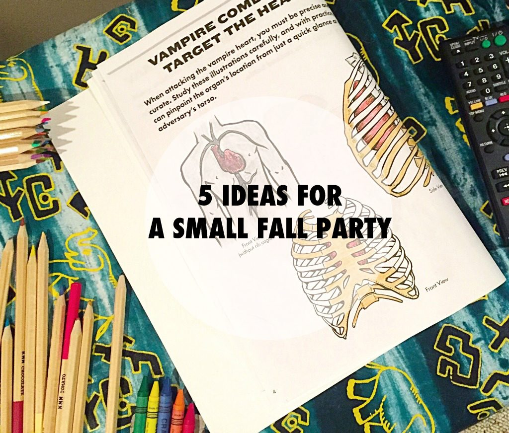 Seasonal snacks, dance parties and coloring books. If you want to throw a fall party for a small group of friends, here are five ideas! // dreams-etc.com