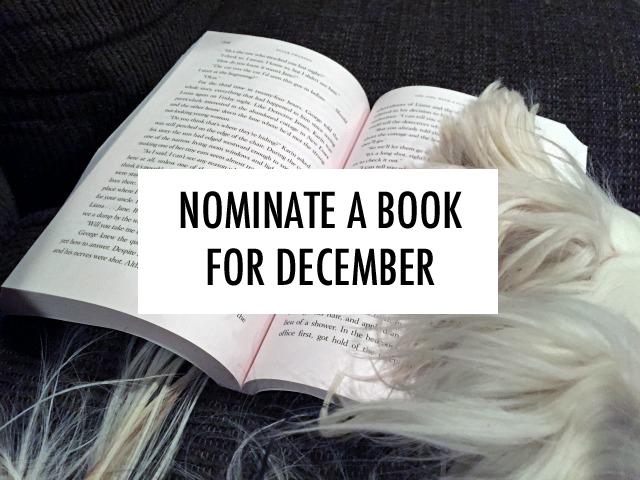 Nominate a book club pick for December. // dreams-etc.com