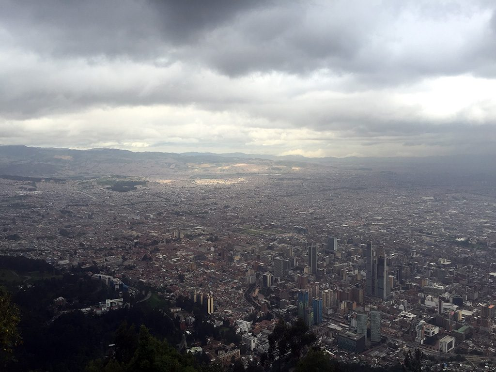 "Monserrate is a must-see while in Bogota, Colombia. Tour the church dedicated to the virgin of Monserrate, that also features one of the few statues that depicts the ""Fallen Christ"" in the world and catch a glimpse of Guadalupe Hill. Visit with a loved one at sunset for a romantic evening. // dreams-etc.com"