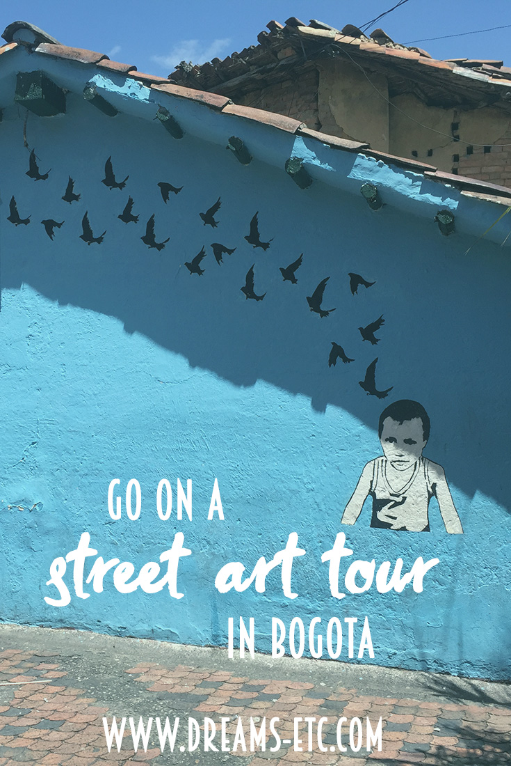Go on a graffiti tour in Bogota and see the all the amazing artwork and learn more about the street artists that live and work in Colombia. // dreams-etc.com