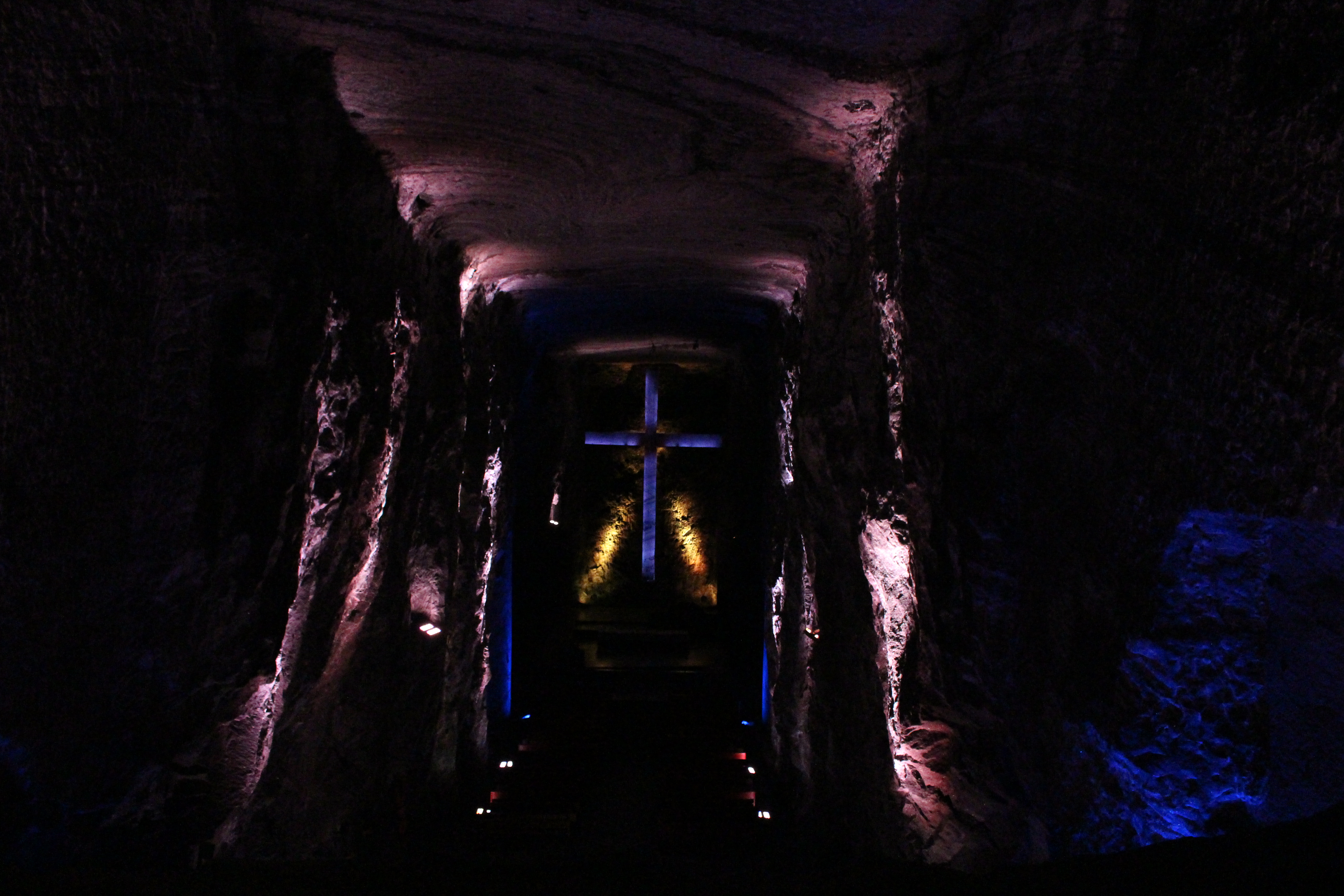 See the beautiful thought and detail that went into the Salt Cathedral in a mine outside of Bogota, Colombia. // dreams-etc.com