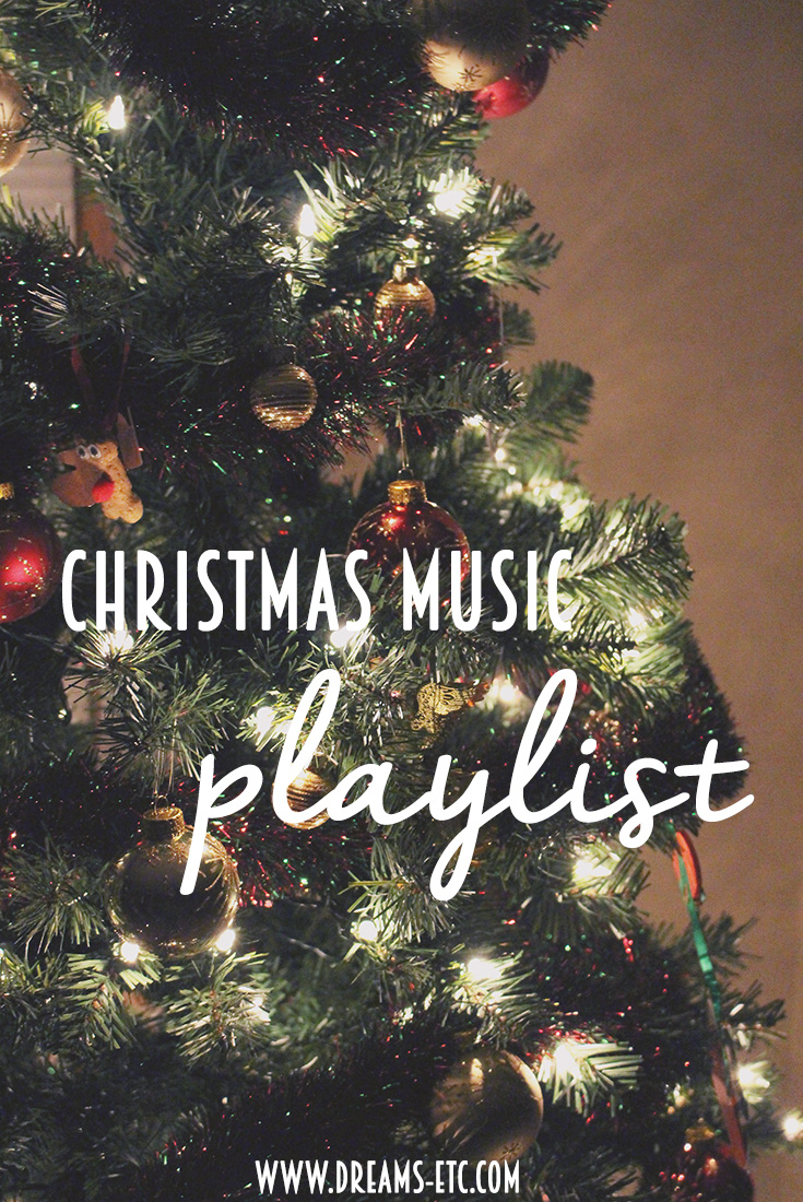 Get into the holiday spirit with this festive Christmas music playlist! // dreams-etc.com