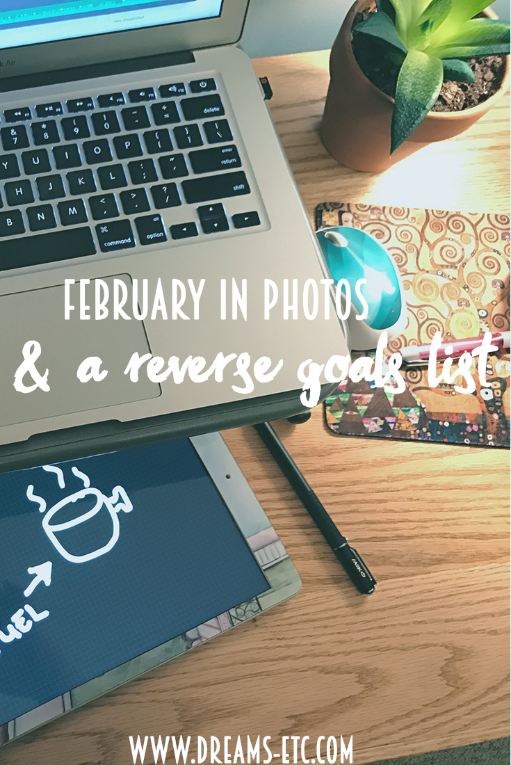 The Beer Dabbler, puppy sitting and the flu: a look at February & a reverse goals list! // dreams-etc.com