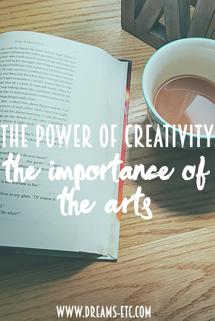 Words can provide the support, encouragement and escape that you need during hard times. They can give you the courage and strength you need to face the circumstances that you might face in your life.  And this is true for all the arts--art, music, dance...