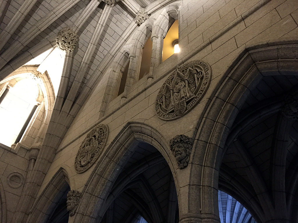 """Visit """"the Hill"""" and see the gothic-style Parliament building, warm up by the Centennial Flame and go up to the Peace Tower when you visit Ottawa! // dreams-etc.com"""