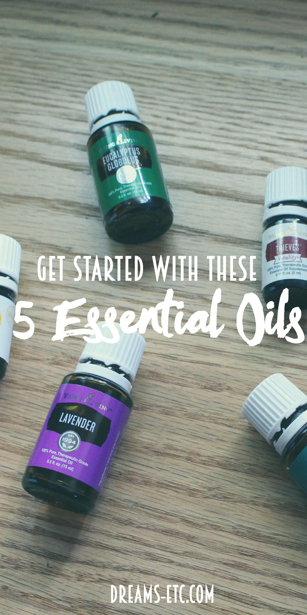 Get started with these 5 essential oils for beginners! // dreams-etc.com