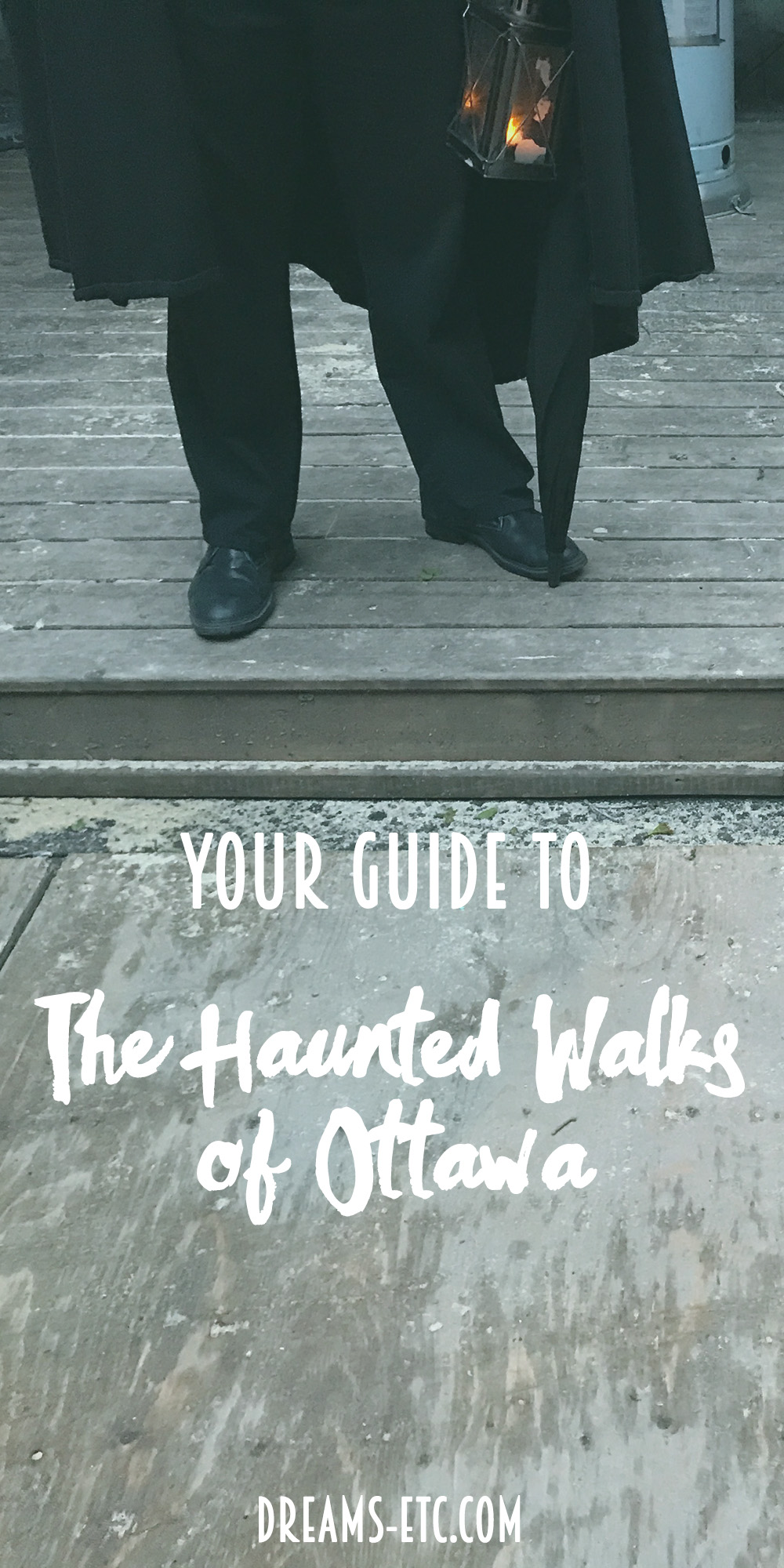 The Haunted Walk of Ottawa has multiple options to tour the city & learn with the history, some with a spooky twist! Here's a guide to three of the tours! // dreams-etc.com