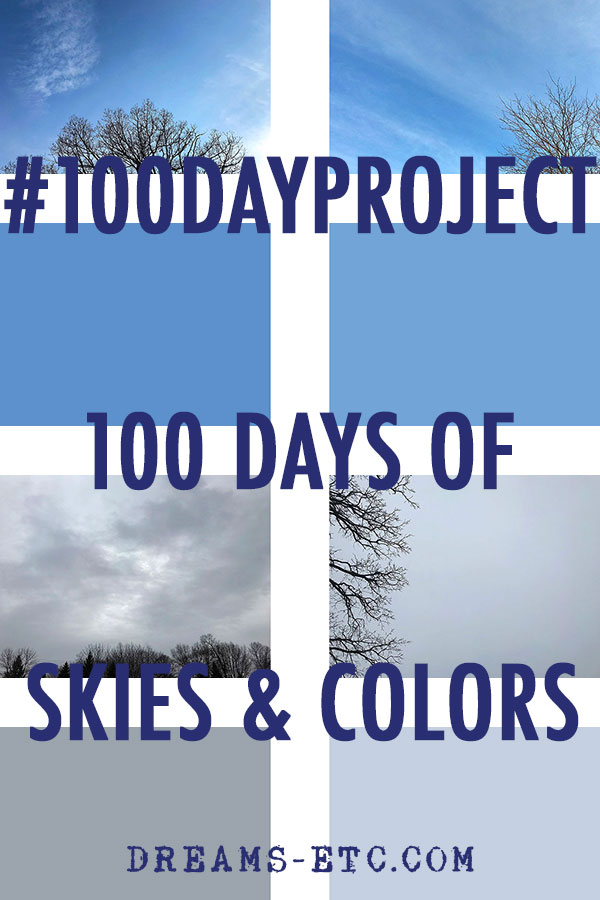 "A roundup of the #100DayProject for April. Taking inspiration from On Kawara's ""Today"" series, I'm doing the skies and colors of these 100 days. // dreams-etc.com"