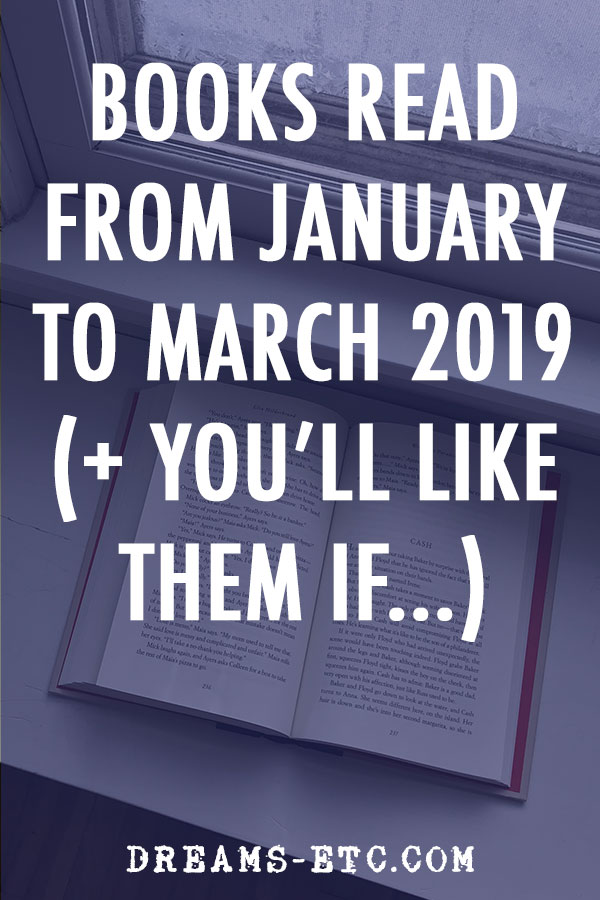 Reviews from the books I read from January to March 2019, broken down by genre to help you find the books you'll like best. // dreams-etc.com