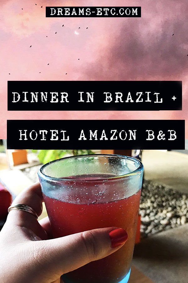 The night I had dinner in Brazil and my stay at Hotel Amazon B&B, a cute, small, and quiet accommodation in Leticia, Amazonas in Colombia. // dreams-etc.com