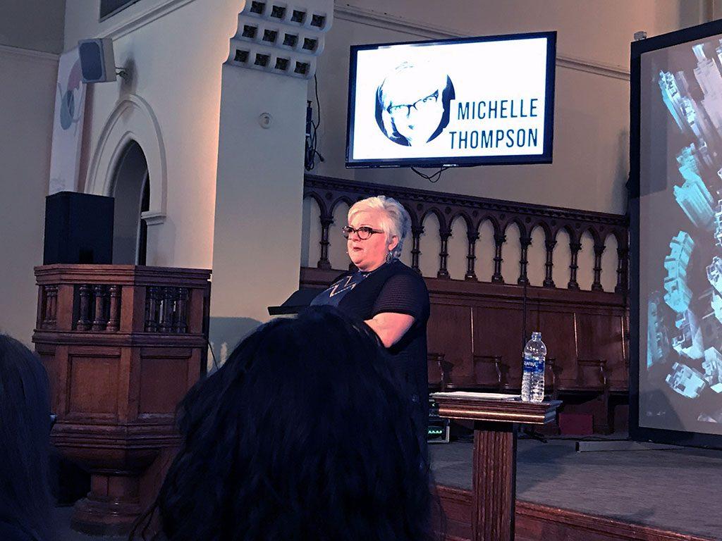 Michelle Thompson speaks at VoxCon 2019